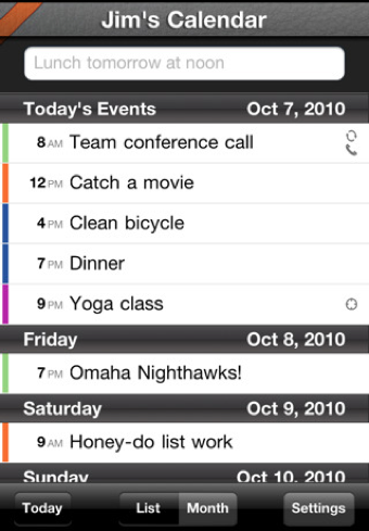QuickCal Mobile Adds Month and List Views, Improves Fonts on iPhone