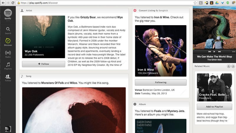 With a Full-On News Feed, Spotify's Serious About Suggesting New Music