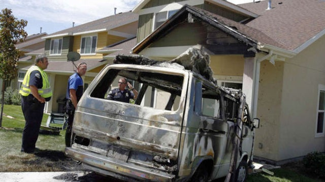 Volkswagen Van Drives Itself Into Condo While On Fire