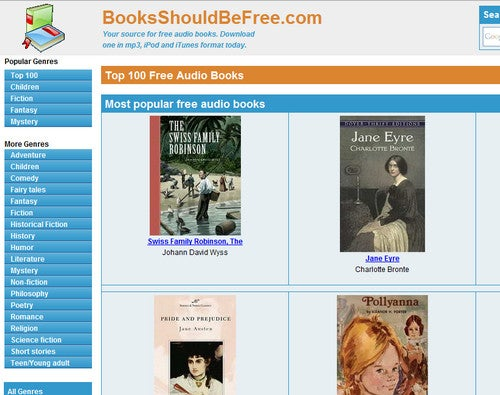 Score Free AudioBooks at BooksShouldBeFree