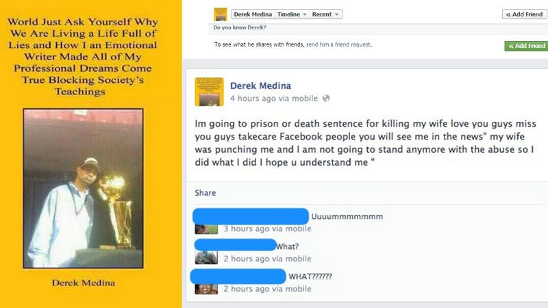 Florida Man Murders Wife, Posts Pictures and Confession to Facebook
