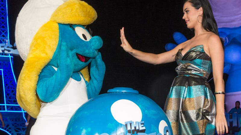 Katy Perry Politely Instructs Smurfette to Talk To the Hand