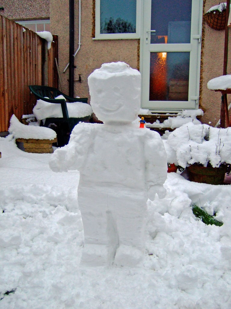 Lego Snowman Has All His Naughty Bricks Frozen Too