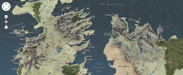 Explora el mundo de Juego de Tronos como si estuvieras en Google Maps
