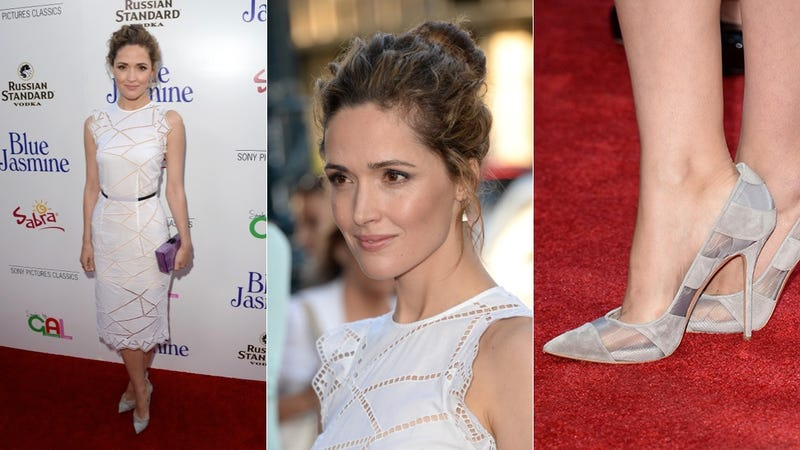Rose Byrne's Little White Dress Is Pretty Perfect