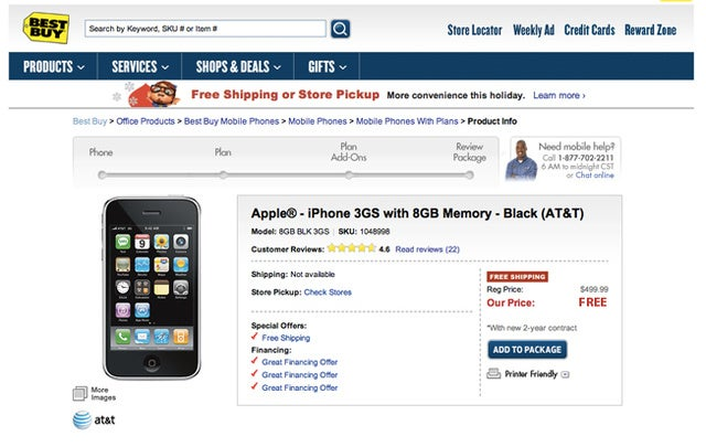 Best Buy Will Give You a Free iPhone 3GS on December 10th...Apparently
