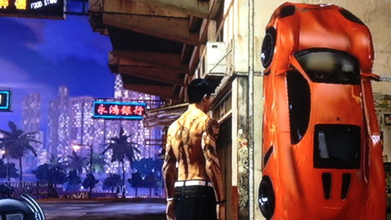 Look At My Awesome Parking Job in Sleeping Dogs