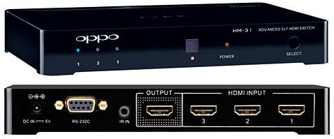 Oppo HM-31 Turns Three HDMI Signals Into One Without Clipping or Gypping