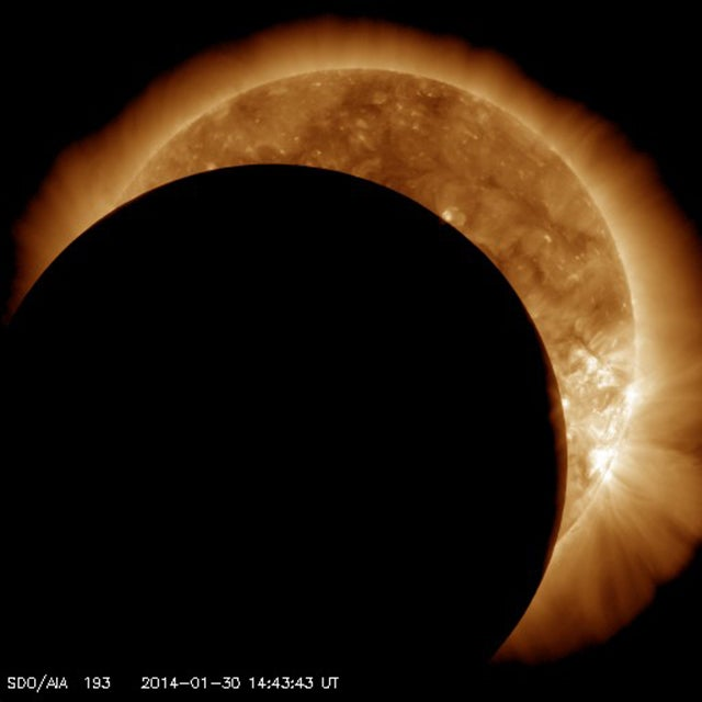 There's a Solar Eclipse Happening Now That Can Only Be Seen From Space