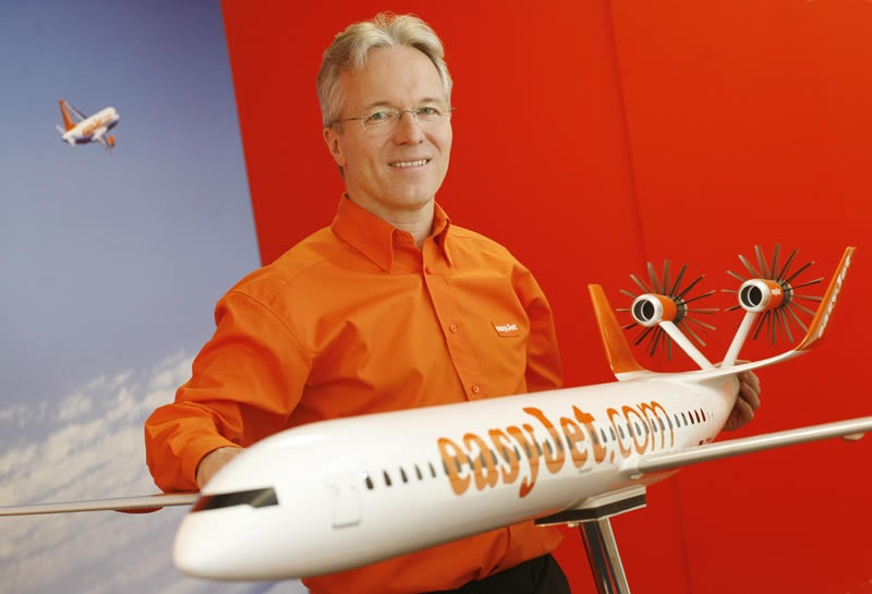 EasyJet Shows off its EcoJet with Giant Orange Man