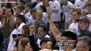 Raptors Fan Goes For Kiss During Game, Gets Rejected