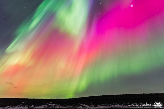 Watch an X-Class Solar Flare Ignite the Skies Over Iceland