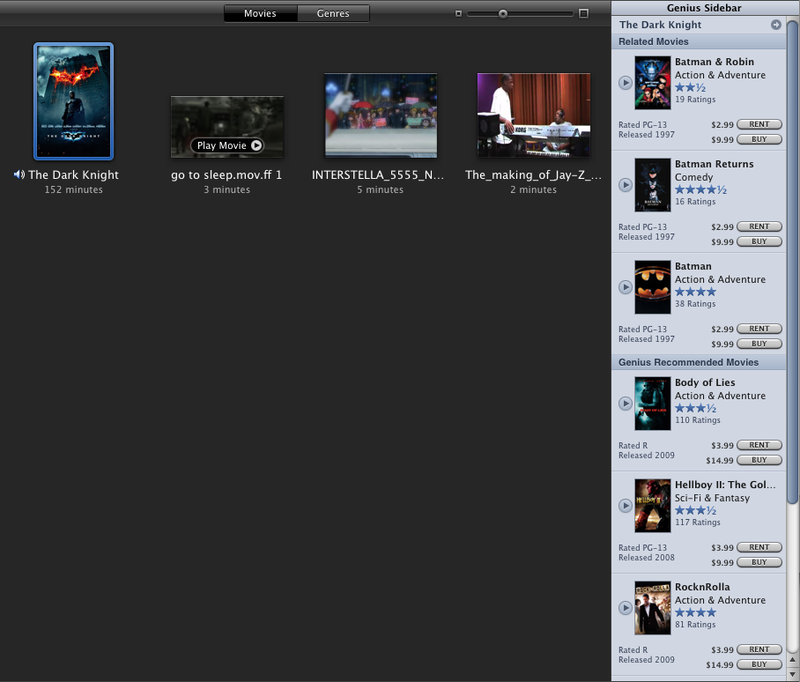 iTunes Now Offers Genius Recommendations For Movies and TV Shows