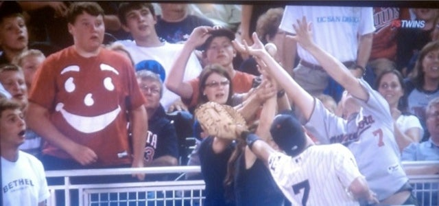 Kool Aid Man Really Wanted To Catch That Foul Ball