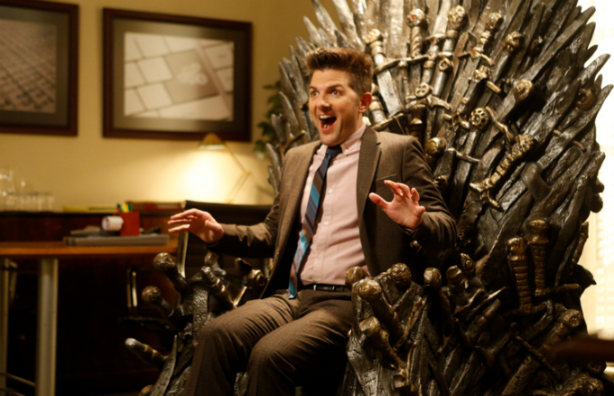 Adam Scott Totally Freaks Out Over His Very Own Iron Throne
