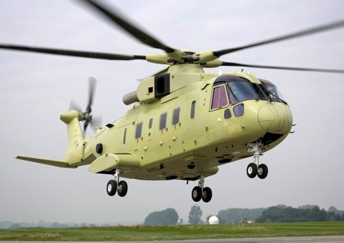 First Production VH71, Future Presidential Helicopter, Takes to the Air in England