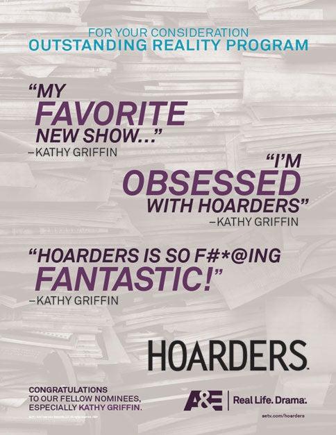 Kathy Griffin & Hoarders Duke It Out In Emmy Ads