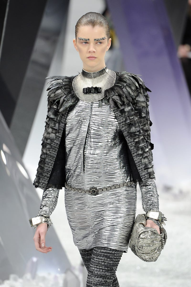 Karl Lagerfeld holds a fashion show in Superman's Fortress of Solitude