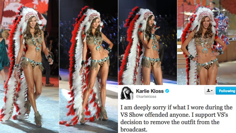 Karlie Kloss Is Really Sorry About That Feathered Headdress, You Guys