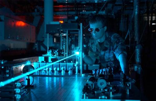 Dark Lasers Fire Dark Pulses of Light, Presumably For EVIL