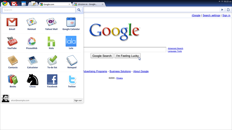 Google Chrome First Official Screenshots