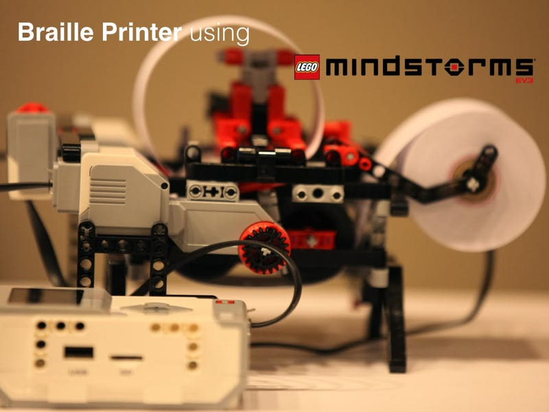 12 year old develops low cost Braille Printer with Lego and promises to give design and code for free download