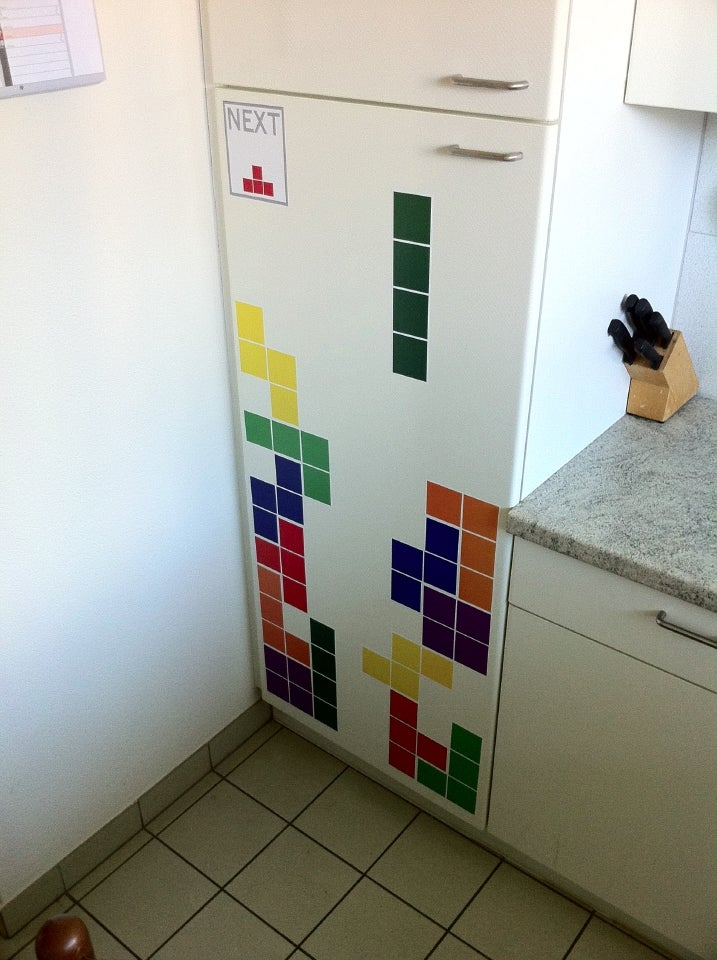 Tetris Decorates a Fridge