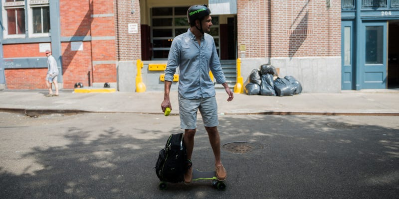 We Rode a Backpack With an Electric Skateboard Inside