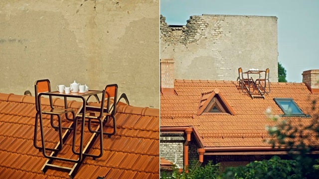 Is This Rooftop Dining Set the Worst Design Idea Ever?