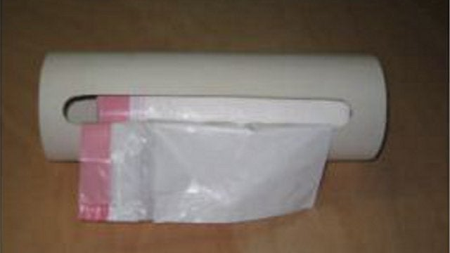 DIY PVC Trash Bag Dispenser