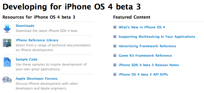 What's New In iPhone OS 4.0 Beta 3?