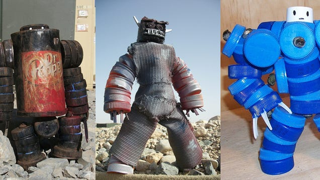 US Soldier Makes Awesome Action Figures Out of Recyclable Materials