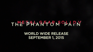 Metal Gear Solid V: Phantom Pain launches on September 1