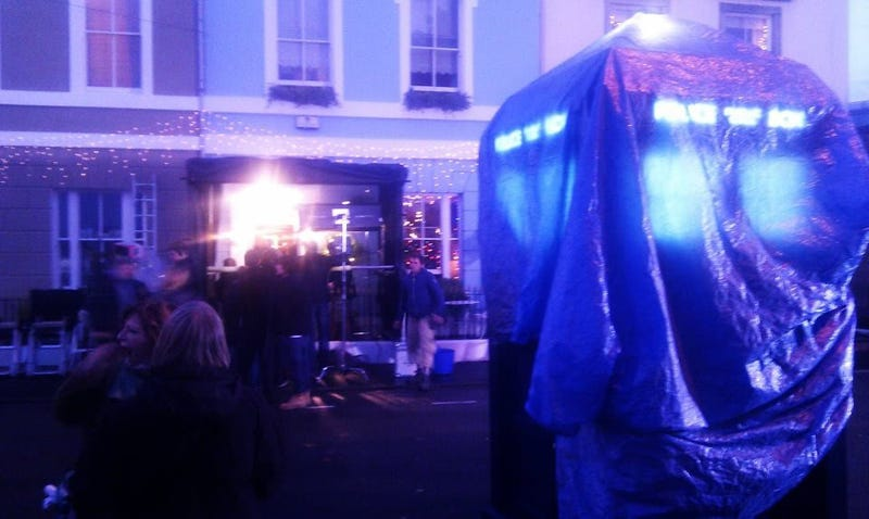 Doctor Who Christmas special set photos