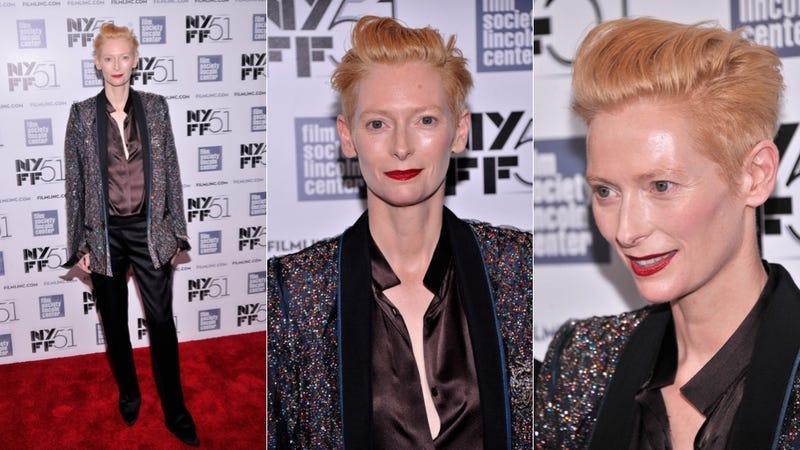 Tilda Swinton Is All Hair and Sparkles