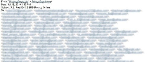 ESRB Apologizes for Email Leak