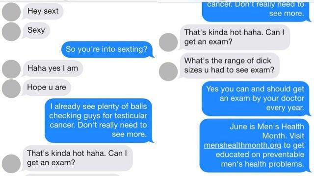 Fake Tinder Nurse Helpfully Reminds Creepy Dudes to Get Prostate Exams