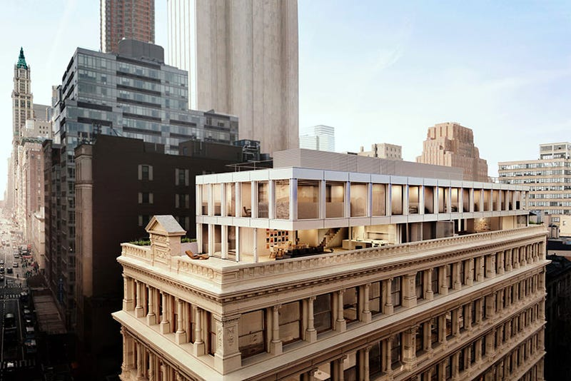 Check Out the Condos Being Built On the Roof of a Historic NYC Building