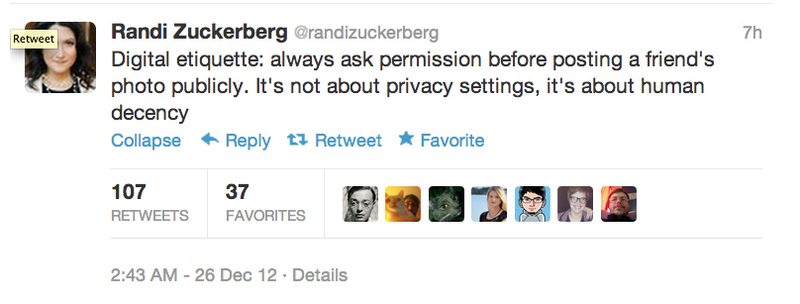Randi Zuckerberg Accidentally Shared a Private Family Photo Because She Doesn't Understand Facebook's Privacy Settings