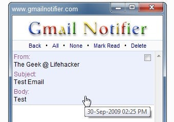 Gmail Notifier Keeps Track of New Email