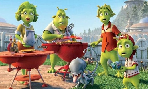 Planet 51 Is Where Green People Are Fat And BBQ Just Like Us
