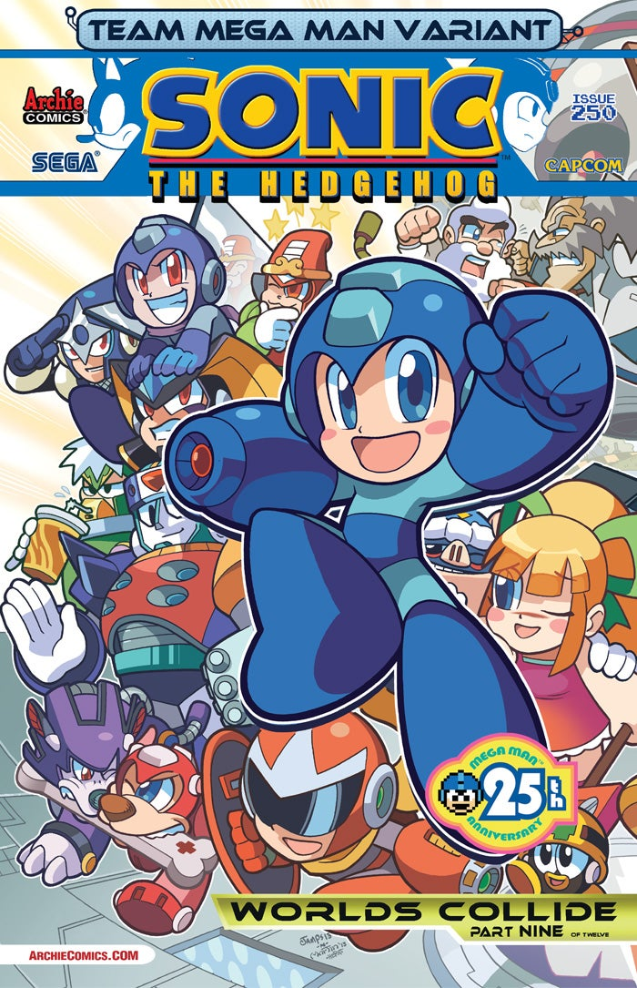 ALL the Robot Masters Show Up in the Mega Man/Sonic Comics Crossover