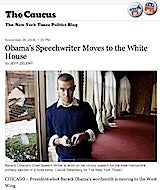 Obama Speechwriter Dating White House's Maxim Babe