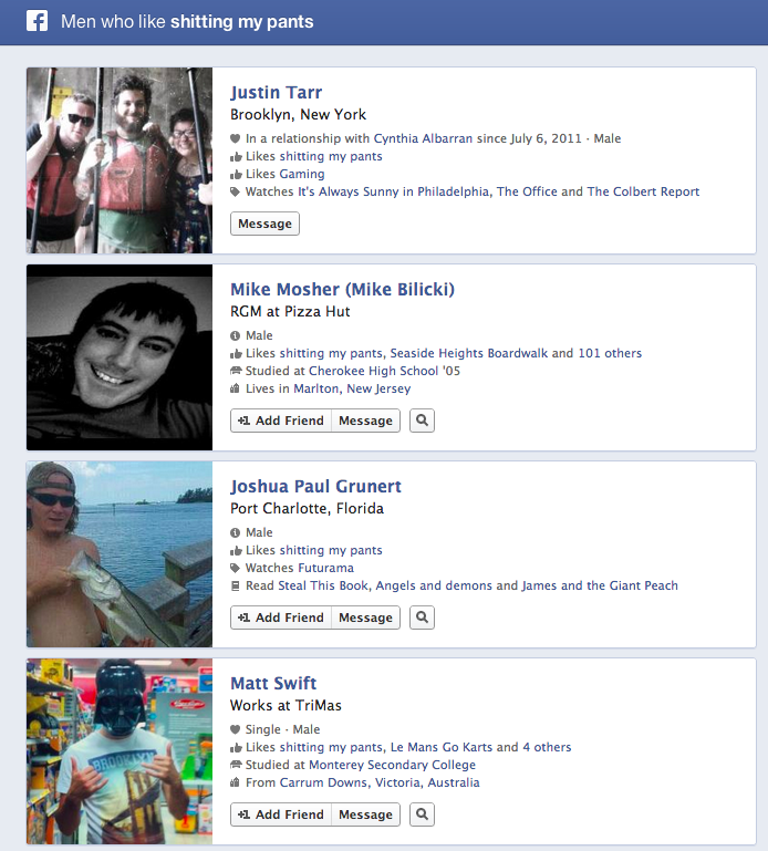 These People Are Now Sharing Horrible Things About Themselves Thanks to Facebook Search