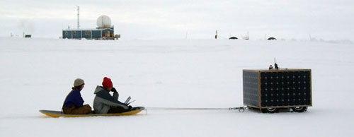 Dartmouth Snow-Bot Hauls People, Kegs