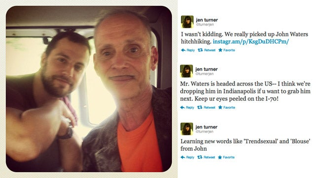 'We Picked Up John Waters Hitchhiking' And You Can, Too