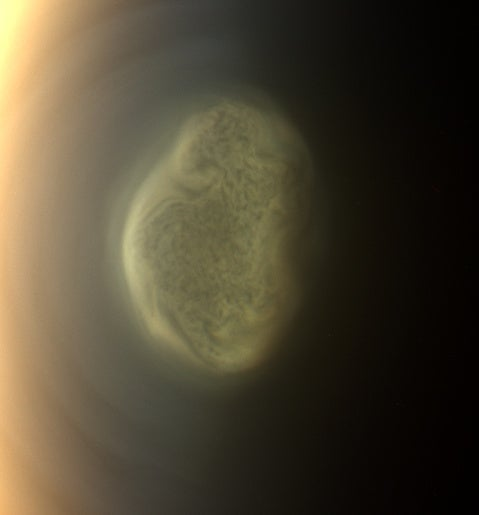 A Startling Vortex on the South Pole of Titan