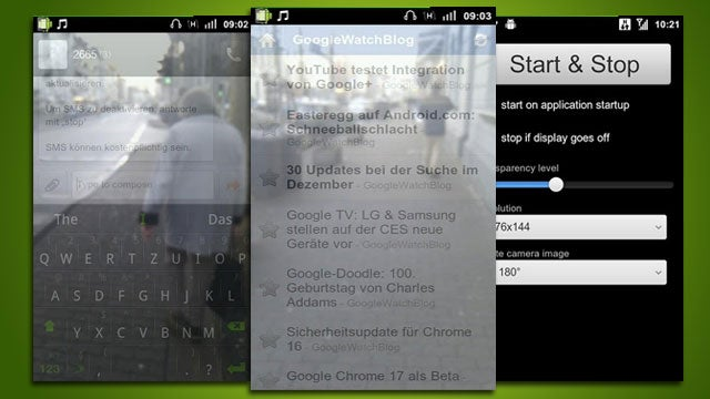 Transparent Screen for Android Lets You Walk and Text at the Same Time Without Bumping into Things