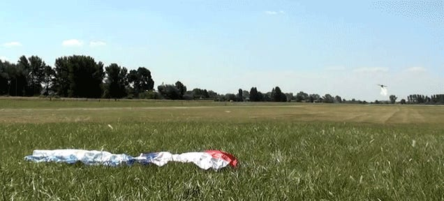 This Ground-Skimming Low Flyby Is The Right Way To Raise A Flag
