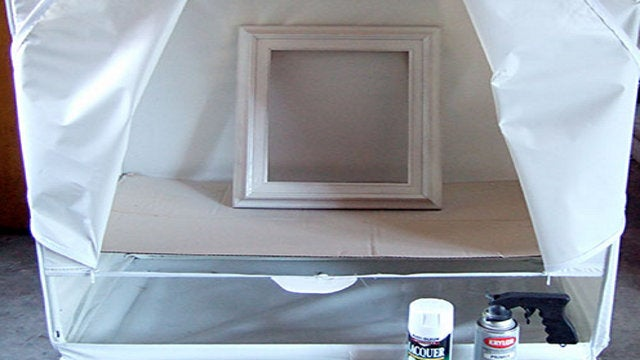 Repurpose a Hanging Wardrobe Into a Spray Painting Tent